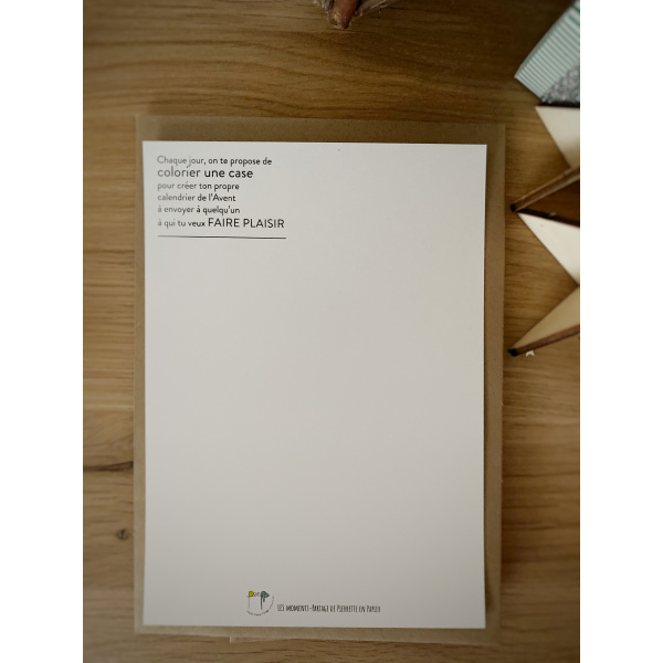 Pierrette en Papier - Carte Avent de Noël