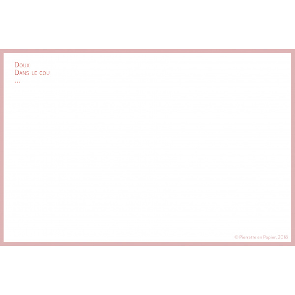 Pierrette en Papier - Carte Bisou