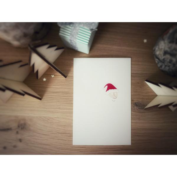 Pierrette en Papier - Carte Crée ton père Noël - la barbe