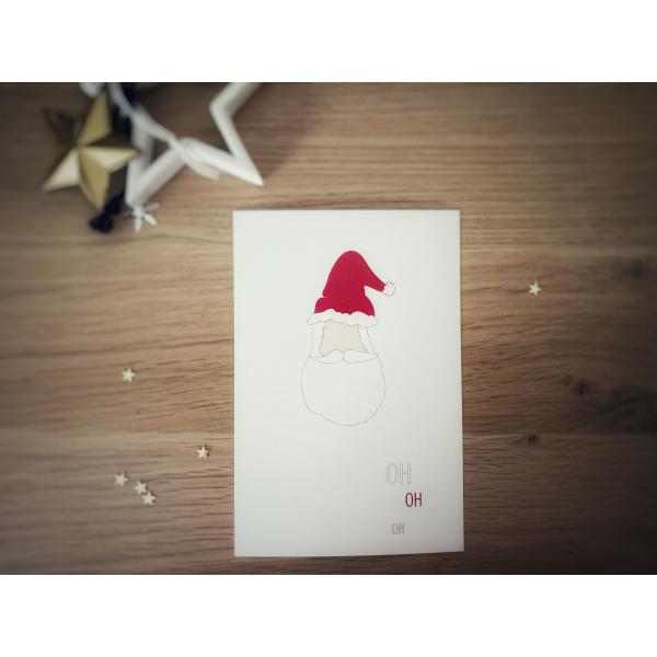 Pierrette en Papier - Carte Crée ton père Noël - la tête