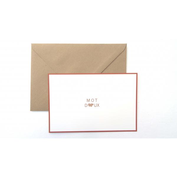 Pierrette en Papier - Carte mot doux