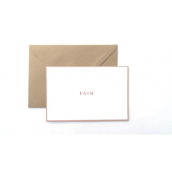 Pierrette en Papier - Carte Pause