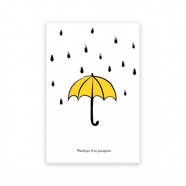 Pierrette en Papier - Carte Plaidoyer pour un parapluie