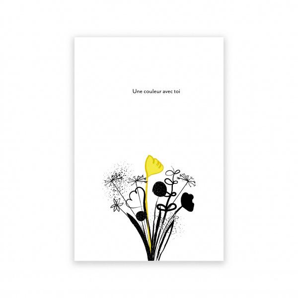 Pierrette en Papier - Carte Une couleur avec toi