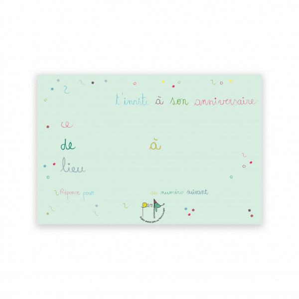 Pierrette en Papier - Invitation anniversaire 1 - rebus + badge