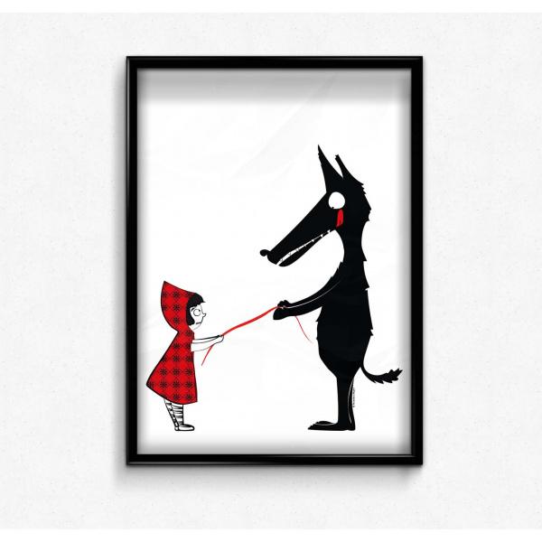 Pierrette en Papier - Le Chaperon rouge et le loup