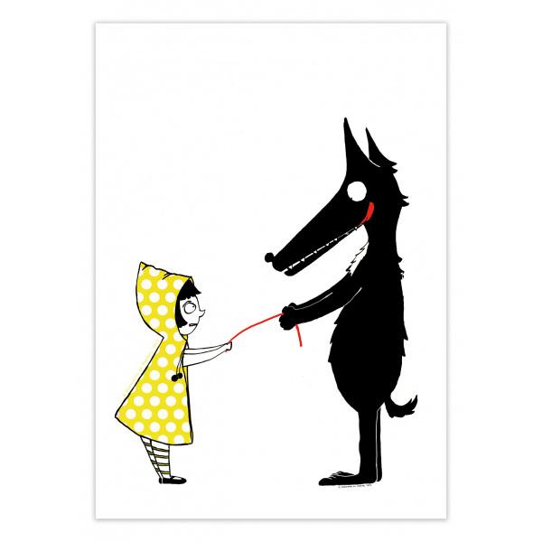 Pierrette en Papier - Le Loup et le chaperon jaune