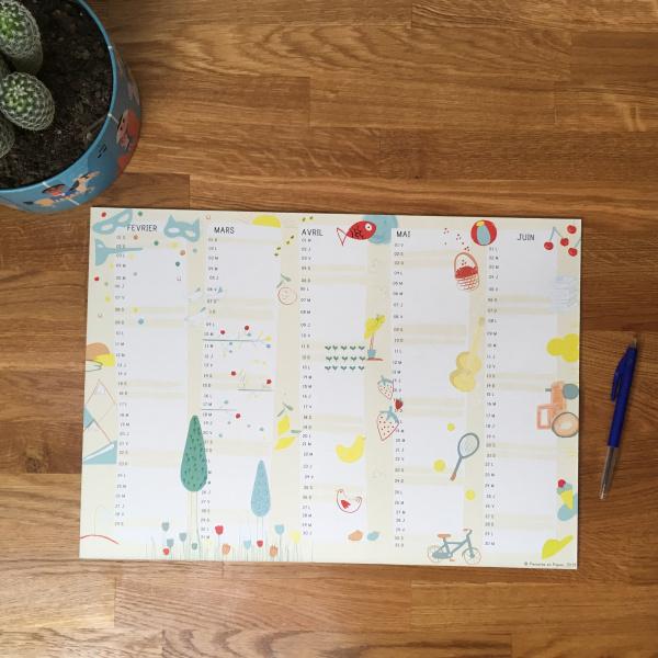 Pierrette en Papier - Planning scolaire 2019-2020